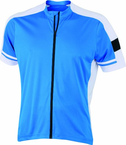 James & Nicholson Herren Sport Top Radtrikots Bike-T Full Zip blau (cobalt) X-Large