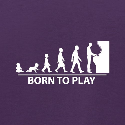 Born To Game - Herren T-Shirt - 13 Farben Lila