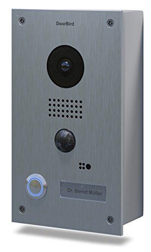 Door Bird IP-Video-Türsprechanlage Außeneinheit D201 1 Familienhaus stainless steel