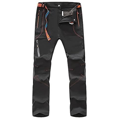 Walk-Leader Pantalon coupe-vent homme Pour extérieur randonnée escalade - gris - X-Large