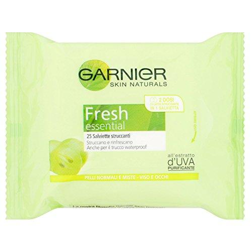 Garnier fresh salviette struccanti per pelli normali o miste - confezione da 25