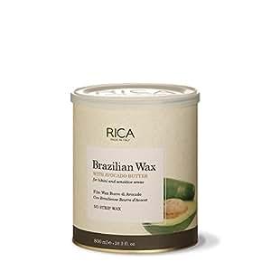 Rica Brazilian Wax, Dose 800ml. per Clitoride e ascelle epilazione, Hot Wax applicazione senza strisce in tessuto non tessuto