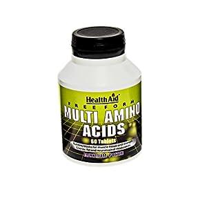 41mQF5YmjgL. SS300  - HealthAid Free Form Multi Amino Acids - 60 Tablets