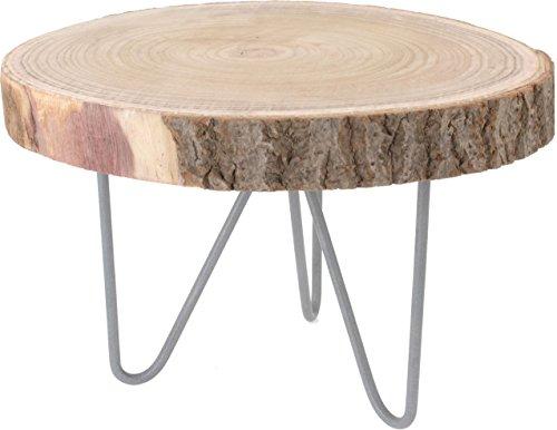 Rustikaler Massivholz Beistelltisch - Holz Tisch aus Baumscheibe - Sofatisch Couchtisch