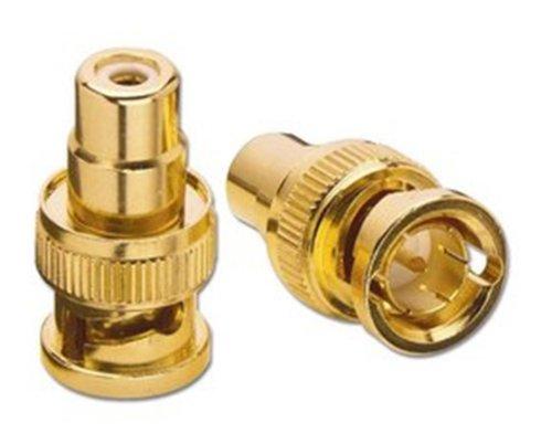 3X Adapter RCA/Cinch auf BNC RCA Buchse-AV BNC Stecker Gold (Bnc-stecker-rca -)