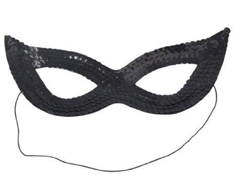 Beyondfashion Sexy Cat Women Sequin Venetian Masquerade Carnival Eye Mask
