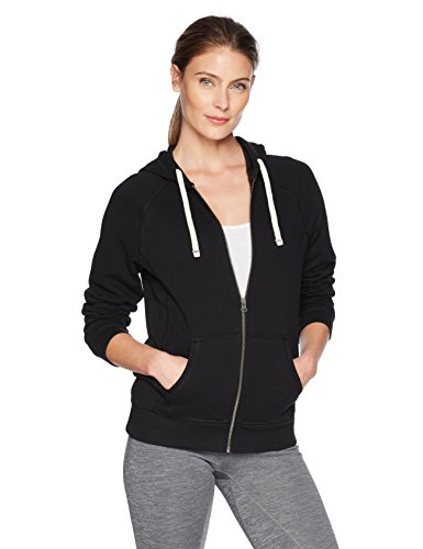 Champion Women's Heritage French Terry Full Zip Hood, Black, Medium French Terry Full Zip Hood