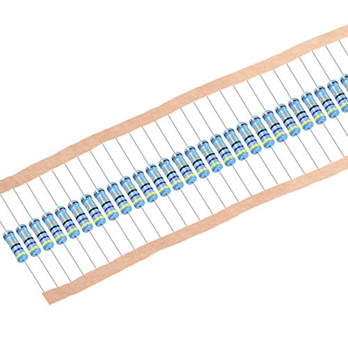 sourcing map 30 Stk.Metall Film Resistors 47 Ohm 1W 1% Toleranz 5 Farbe Band de
