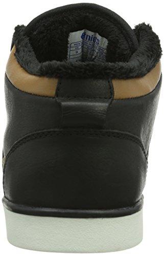 Etnies Jefferson Mid Lx Smu, Baskets mode homme Noir (Black Brown)