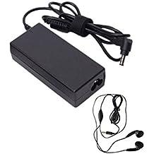 Amsahr 19 V 3.16 A 60 W reemplazo adaptador de CA con el auricular estéreo para Gateway 3105, 60DH, 02, 05, 07, 3032U ordenador portátil