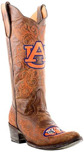 NCAA Damen Gamedaystiefel, 33 cm, Auburn University, Damen, AUB-L001, Messing, 6 B (M) US - Distressed Braun Cowboy Stiefel