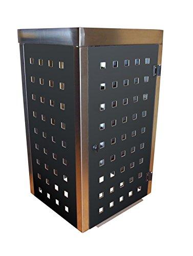 Mülltonnenbox Edelstahl, Modell Eleganza mit Pflanzwanne 120 Liter in Anthrazitgrau