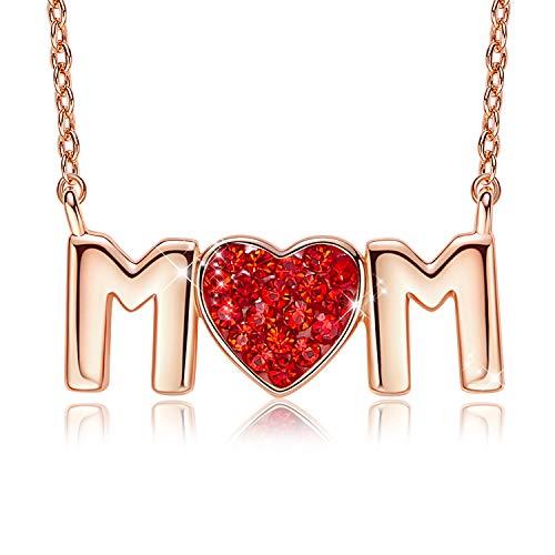 CDE Mutter Halskette Buchstaben Halskette 18K Rose