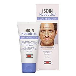 ISDIN Nutradeica – Gel-crema facial indicado para el tratamiento del exceso de sebo, descamación, picor y eritema de la piel seborreica facial, 50 ml