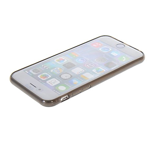 MOONCASE TPU Silicone Housse Coque Etui Gel Case Cover Pour Apple iPhone 6 ( 4.7 inch ) Claire Gris
