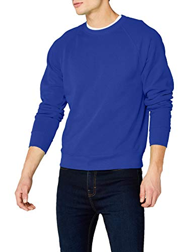 Fruit of the Loom Herren, Sweatshirt, Raglan Sweatshirt, Blau (Königsblau), Medium (Herstellergröße : Medium) Hooded Sweatshirt Medium Baumwolle