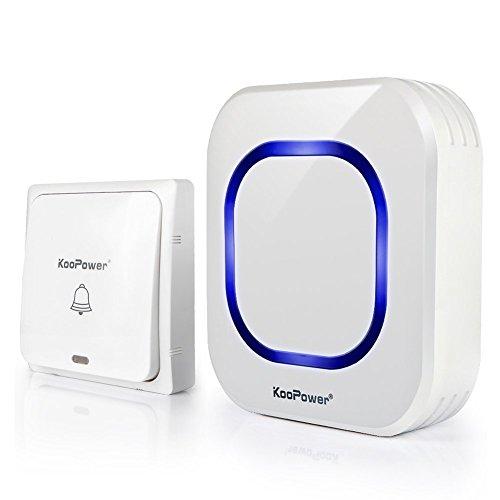 KooPower Campanello Wireless Non Richiede Batteria, Volume Regolabile,...