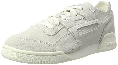Reebok Damen Workout Lo Plus Fbt Sneaker, Weiß (Chalk/Snowy Grey), 40 EU (Leder Athleisure)