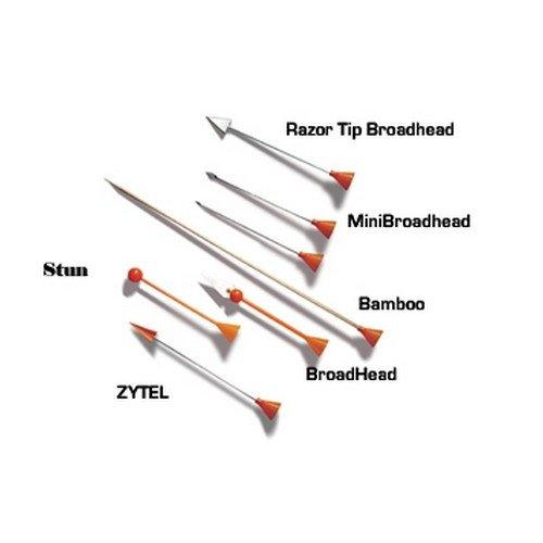 Cold Steel Razor Spitze breiten Kopf Dart Jagd Waffe (40Pack) (Blow Gun 40)
