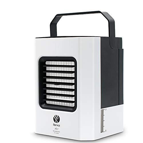 Mini Luftkühler , 4 in1 Air Cooler/ Mobil Klimagerät/ Luftreiniger/ Luftreiniger,mit USB Anschluß/ Nano-Filter,für Büro Garage und Haus(Weiß)