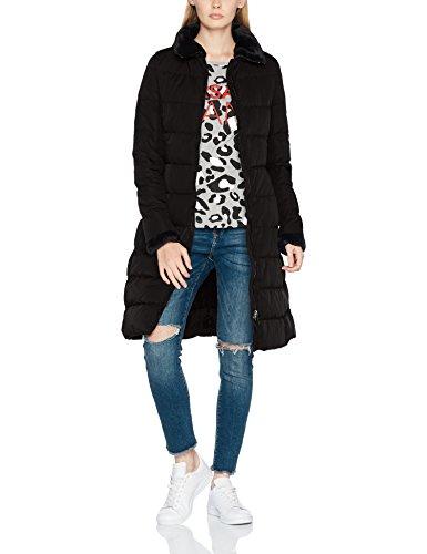 Armani Jeans Damen Mantel Jacket, Schwarz (Nero 1200), 38 (Herstellergröße: 44)