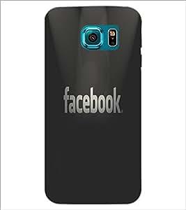 PrintDhaba Facebook Logo D-5544 Back Case Cover for SAMSUNG GALAXY S6 (Multi-Coloured)