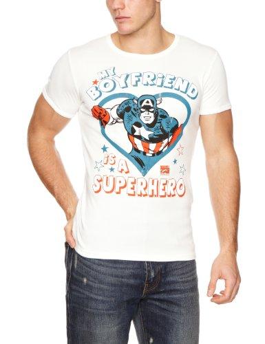 Logoshirt Herren T-Shirt Unisex Slimfit, Altweiß, Medium (herstellergröße: Medium)