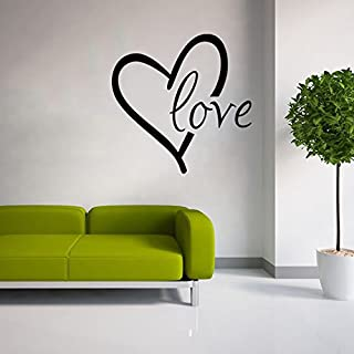 Stonges Love Wall Sticker Vinyl Heart Wall Art Decal Wall Saying Quotes for Valentines Day Home Decoration