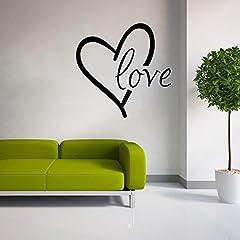 Idea Regalo - Stonges Love Wall Sticker Vinile Cuore Wall Art Decal Wall Citando Citazioni per San Valentino Decorazione della casa
