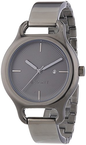 Esprit Naomi Women's Quartz Watch with Grey Dial Analogue Display and Grey Stainless Steel Bracelet ES107932004