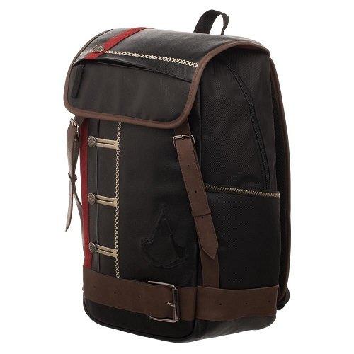 Official Assassins Creed Rouge Schwarz Premium Laptop Rucksack Rucksack Tasche