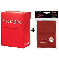 Ultra Pro Deck Box + 100 Protector Sleeves - Red - Magic: The Gathering - Standard