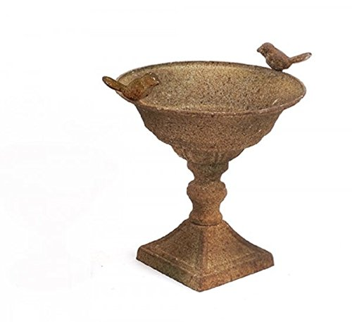 Amphora métal shell / shell amphore Coupe Antique BROWN GREEN Sanded 23cm x 24cm