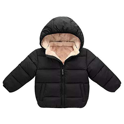 Quaan Kinder Jacke (3T-7T) Baby Mädchen Junge Winter Mit Kapuze Mantel Mantel Dick Warm Oberbekleidung Kleider Weste Schön Retro Reise Solide Baumwolle Weich Persönlichkeit Sport Outwear Oberteile