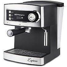 Orbegozo EX 3000 - Cafetera para espresso y cappuccino (850 W, 230 V, 15 bares, depósito 1.60 litros), plata y negro