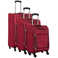 American Tourister Portland Softside Spinner Luggage set of 3pieces with TSA Lock - Red