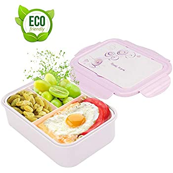 Bestonzon 5/scomparti Bento lunch box con zuppiera cibo frutta contenitore di plastica con coperchio e cucchiaio blu
