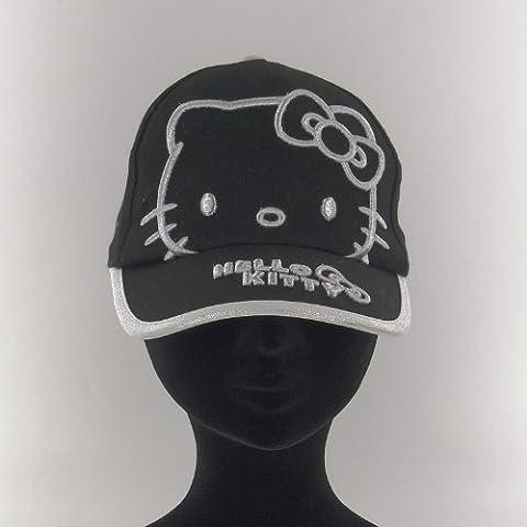 Hello Kitty Gorra Negra y Plateada Talla 52