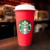 [LIMITED EDITION] Tazza riutilizzabile Starbucks Rossa da caffè da Viaggio, 453 ml