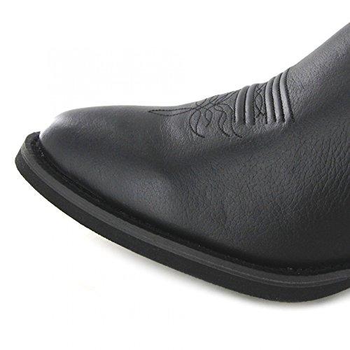 Justin Boots 2553 EE Black/Herren Westernreitstiefel Schwarz/Herrenstiefel/Reitstiefel/Western Riding Boots Black (Weite EE)