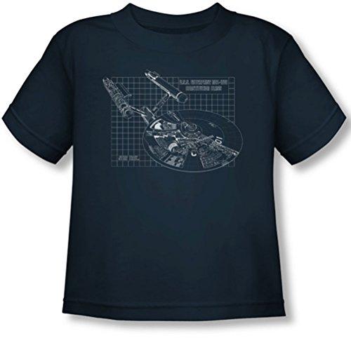 Star Trek - Kleinkind Enterprise-Prints T-Shirt, 4T, Navy