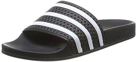 adidas Adilette, Unisex Adults' Beach & Pool Shoes, Black/White/Black, 5 (Adidas Mens Infradito)