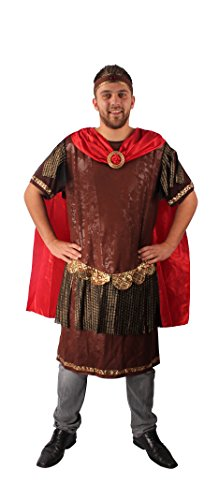 Spartacus Kostüm Größe 58-60 | Gladiator Verkleidung mit Toga & Stirnband | Römer-Kostüm | Erwachsenenkostüm für Fasching / Karneval als römischer Krieger oder Kaiser | Römer-Outfit für Herren