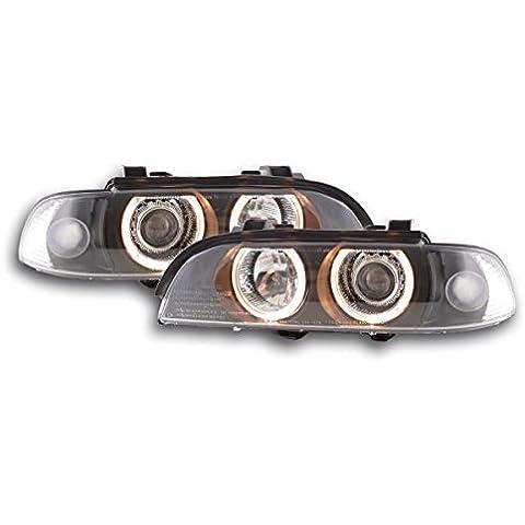Faros angel eyes para BMW Serie 5 (tipo E39) 95-00 negro [Automóvil]