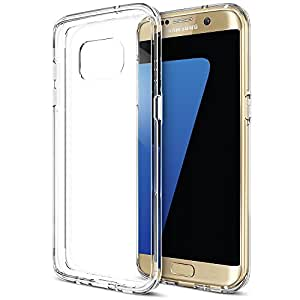 Galaxy S7 Edge Case, Trianium [Clear Cushion] for Samsung Galaxy S7 Edge Clear Case Scratch Resistant Seamless integrated Shock-Absorbing Bumper Cases Cover with Back Hard Panel - Clear