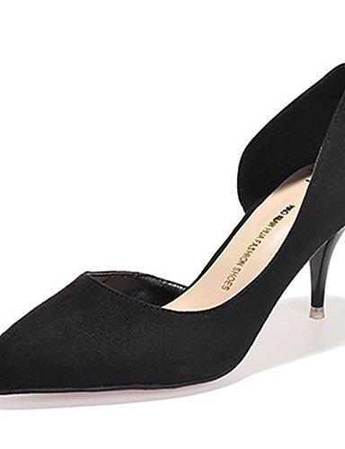 WSS 2016 Chaussures Femme-Décontracté-Noir / Gris / Multi-couleur-Talon Aiguille-Talons-Talons-Laine synthétique gray-us7.5 / eu38 / uk5.5 / cn38