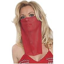 trajes de danza del vientre velo en la cara * (velo de malla cara) de un tama?o de color rojo