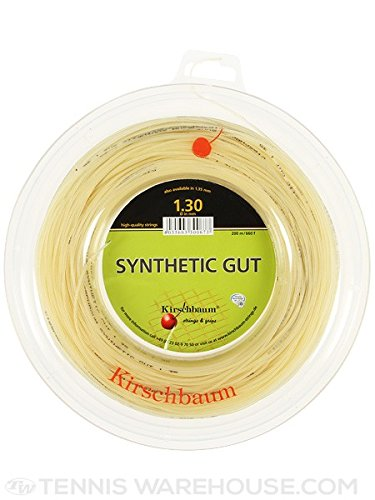 Kirschbaum Spule Synthetik gut Naturdarm Tennis Saite, natur, 1.30mm/16-Gauge
