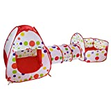 Mekta - Giocattolo per Bambini, con Tenda, Tunnel e Palla, per Bambini, WJ0175183_RD-MEKTARTAR, Colore: Rosa, Wie Gezeigt