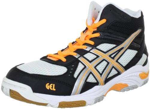 Asics Gel-task Mt, Chaussures de Handball homme Blanc - Weiß (White/Silver/Neon Orange 193)